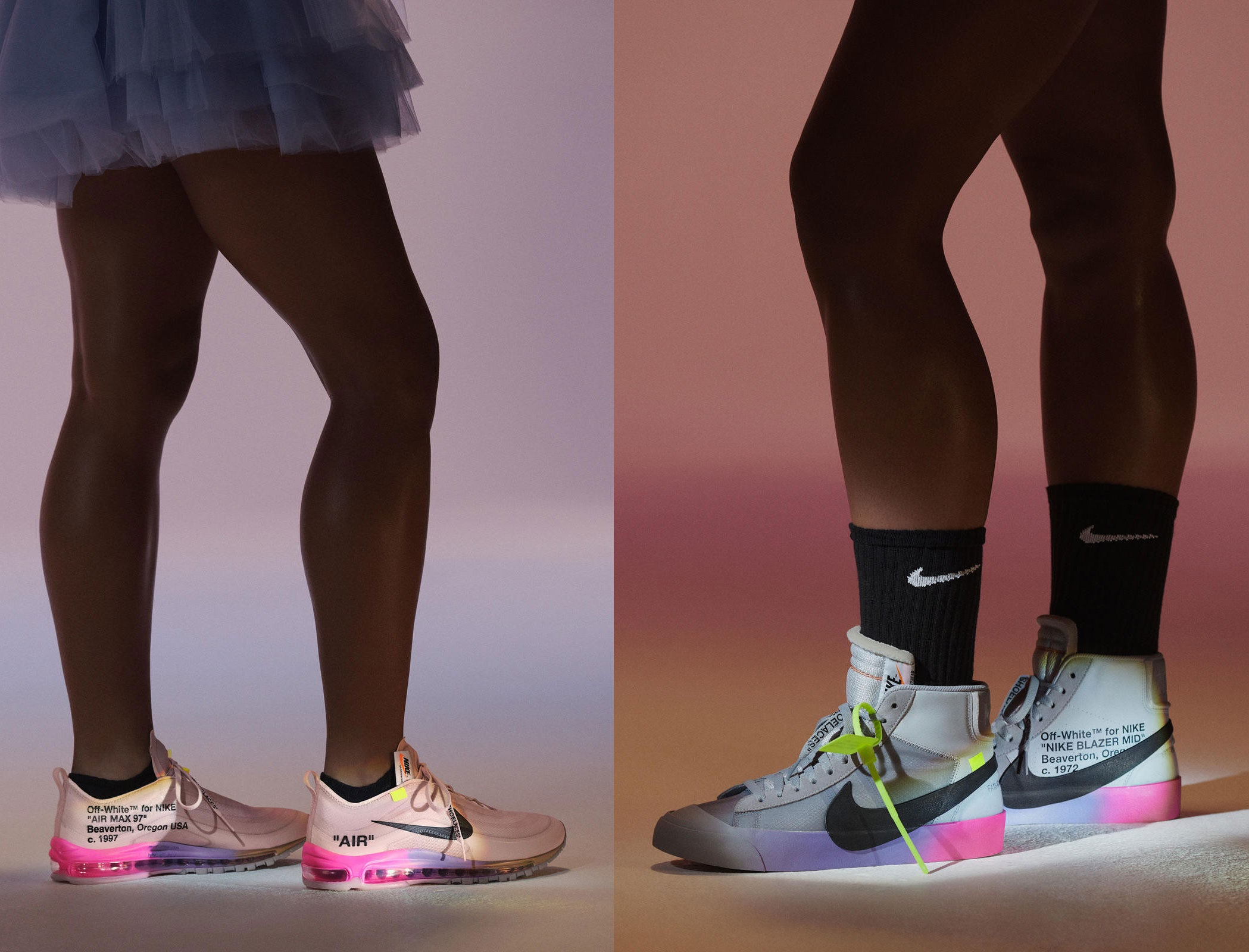 pretty nice 3d7de 8b8c8 Each of the shoes will have signature off-white detailing. Williams will  sport the PE version of the NikeCourt Flare 2 during the tournament.