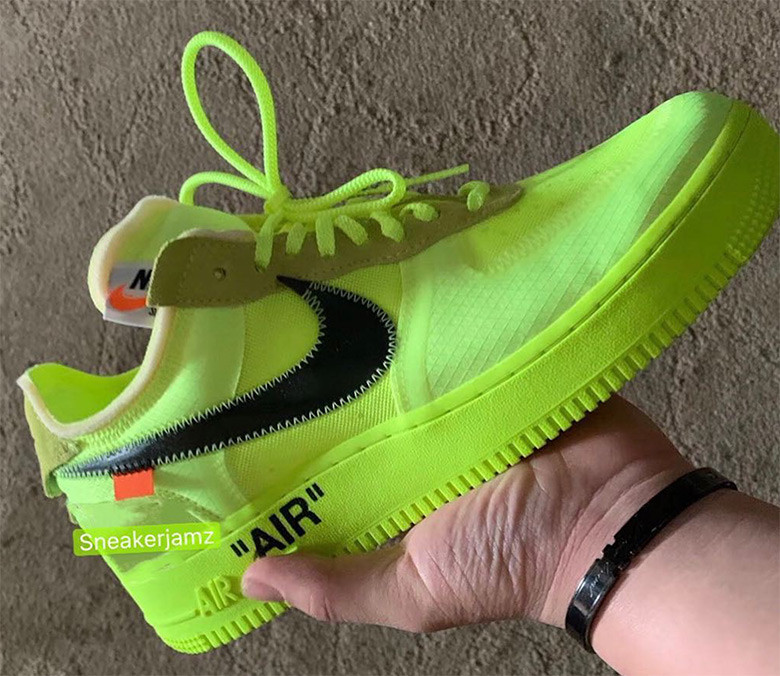 The Off White x Nike Air Force 1 'Black' And 'Volt' Get