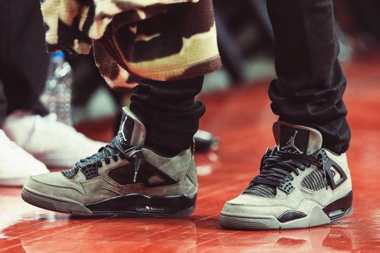 Travis Scott's 'Olive' Air Jordan 4 Collab
