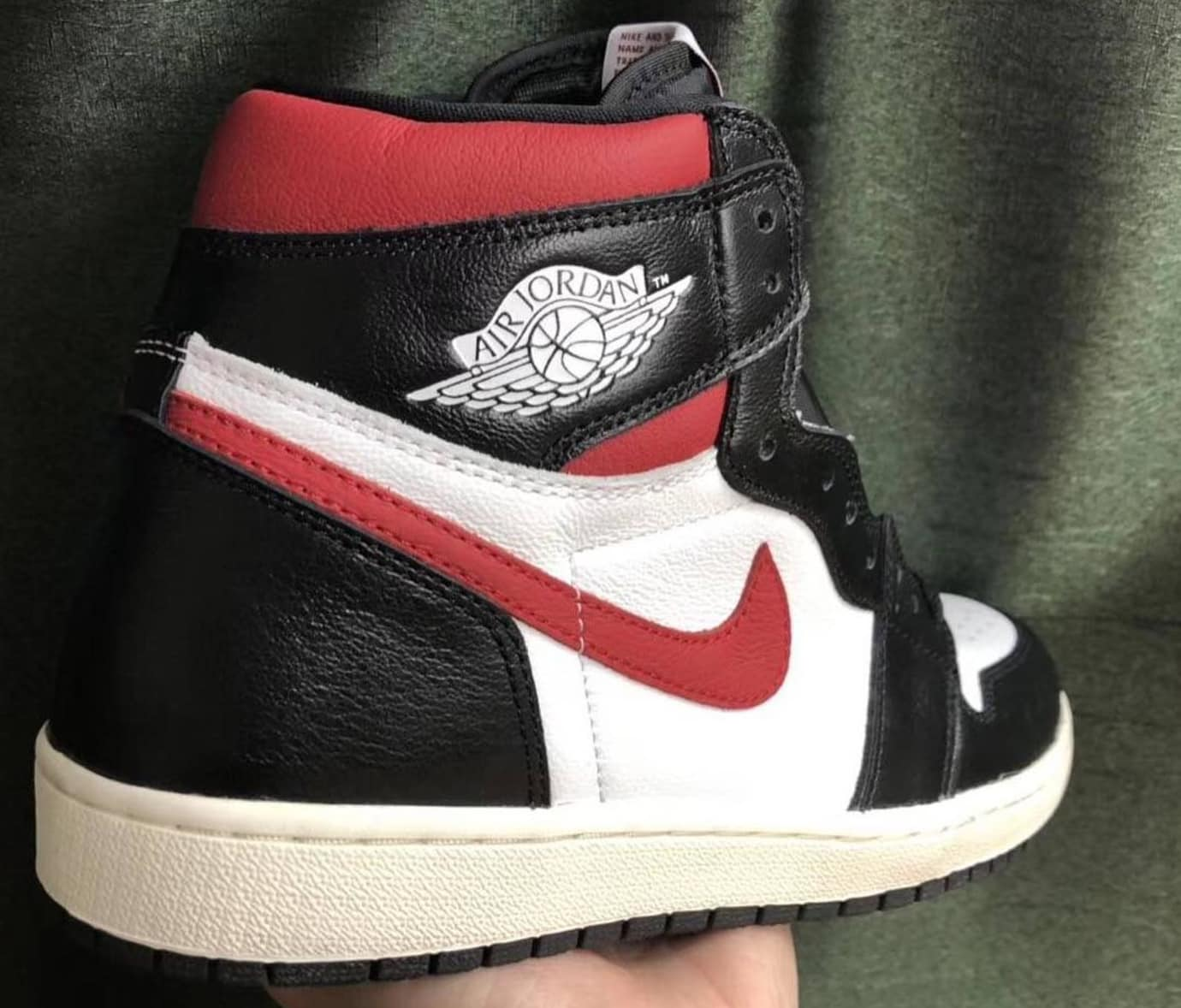 new arrival 7c6af 78929 The Air Jordan 1 Retro High OG Black White Sail-Gym Red has a white leather  upper featuring black overlays on the toe box, eye stay, heel. The lateral  and ...